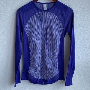 Fabletics Long Sleeve Blue Top | S